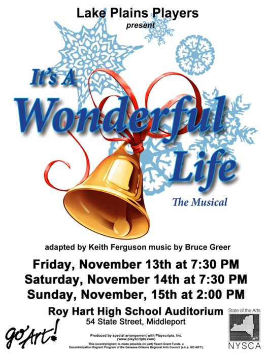 It 39 S A Wonderful Life The Musical At Lake Plains Players Performances November 13 2015 To